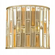 Gemma Wall Light in a Silver Leaf Finish with Amber Pearl and Clear Crystal Prisms - HINKLEY HK/GEMMA2/A SL